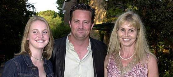 Madeleine Morrison's stepbrother, Matthew Perry, with her mom and sister.