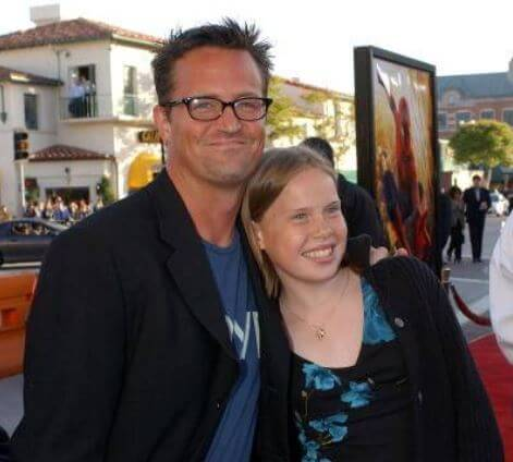 Madeleine Morrison, with her stepbrother, Matthew Perry.