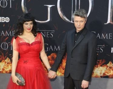 Camille O'Sullivan with her partner Aidan Gillen in season 8 premiere of Game of Thrones.