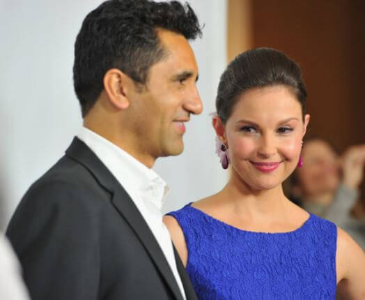 Cliff Curtis with his wife.
