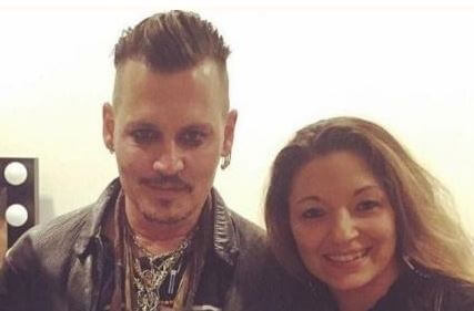 Kristina with Johnny Depp