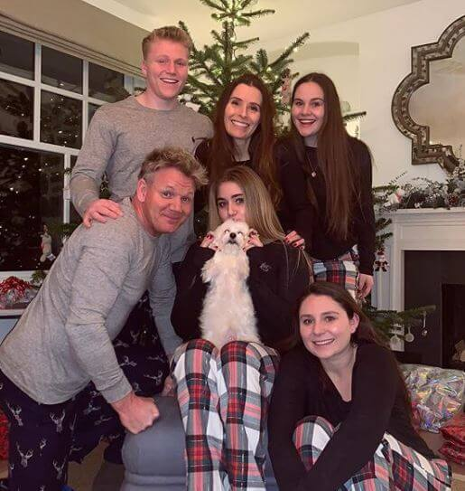 Holly Anna Ramsay with her family.