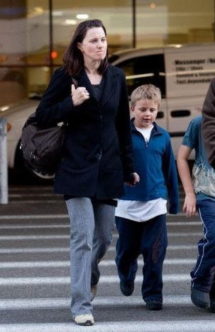 Judah Miro Tapert with his mother Lucy Lawless.