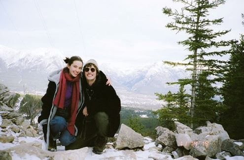 Dylan Fender with his girlfriend Alyssah Paccoud in Canmore, Alberta, Canada.