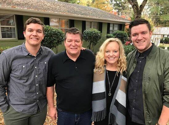 Randy Timberlake with his wife Lisa Perry and sons.
