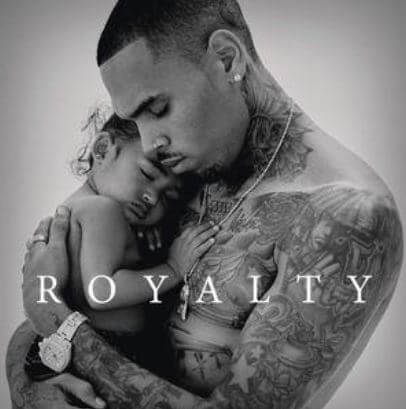 Royalty Brown and Chris Brown on the cover of album Royalty.