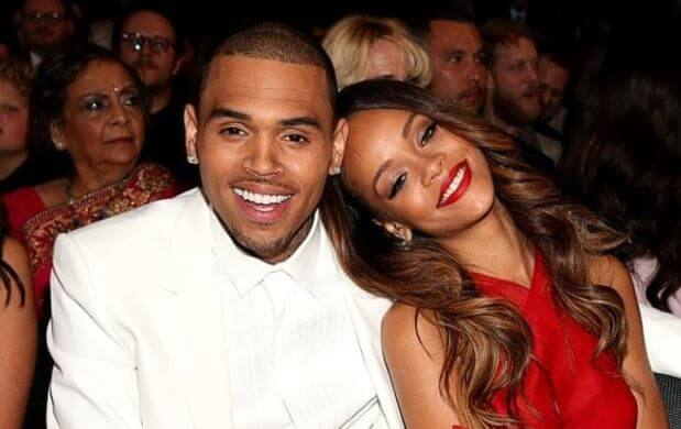 Royalty Brown's father, Chris Brown with his then-girlfriend Rihanna.
