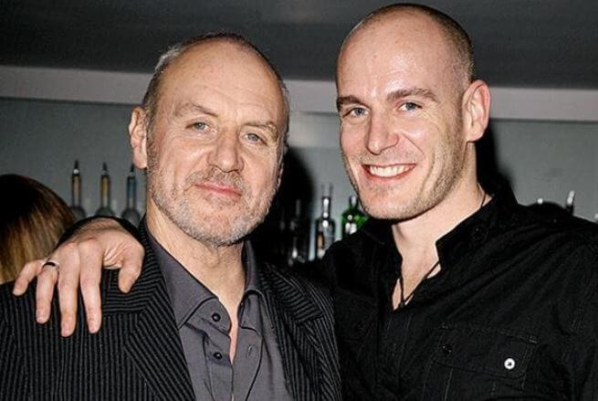 Simon Dale with his father, Alan Dale.