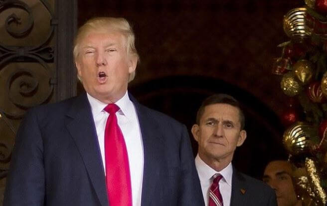 Barbara Flynn Redgate's brother, Michael Flynn and Donald Trump.