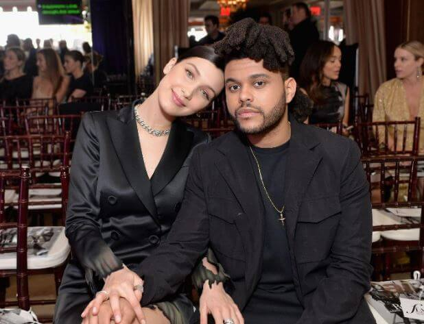 Makkonen Tesfaye's son, The Weeknd with his ex-girlfriend, Bella.