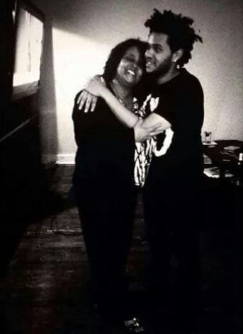 Makkonen Tesfaye's wife, Samra Tesfaye, with their son, The Weeknd.