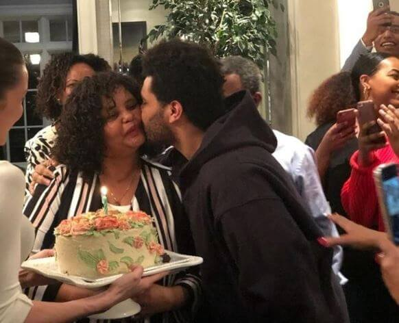 Samra Tesfaye with her son, The Weeknd