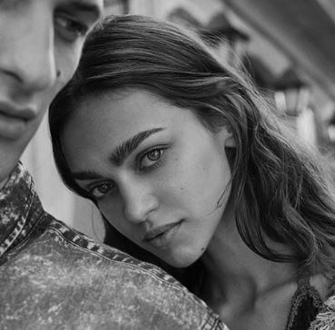 David Trulik with his model Zhenya Katava.