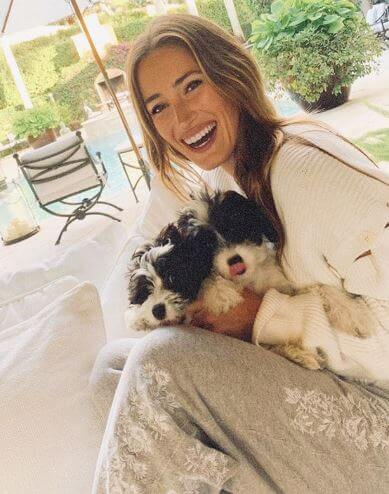Jessica Springsteen with her dogs.