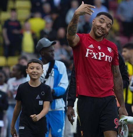 Myles Troy Deeney with his father, Troy Deeney.