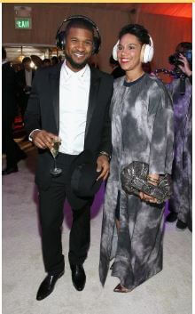 Grace with her ex-husband, Usher