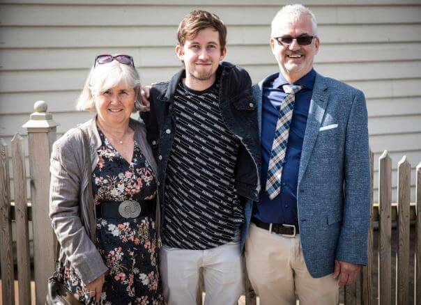 Hilde Omdal Walker with her son, Alan Walker and husband, Philip Alan Walker.