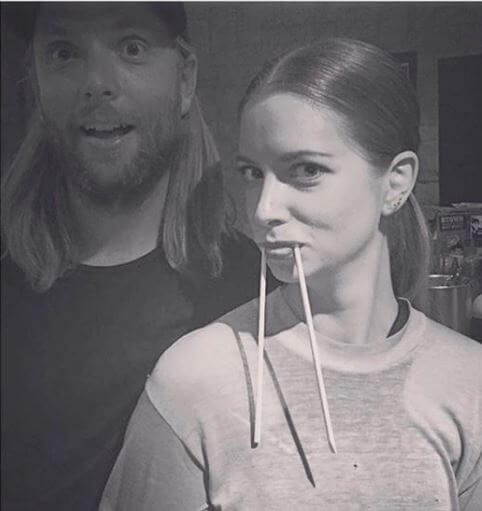 With Her Brother James Valentine