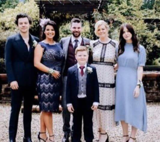 Amy Twist with her son, brother Mike Twist and stepmother Anne and siblings Harry and Gemma.