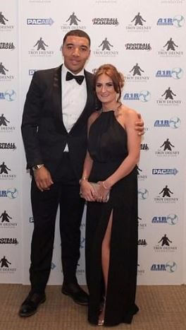 Alisha Hosannah's boyfriend, Troy Deeney with his ex-wife, Stacey.