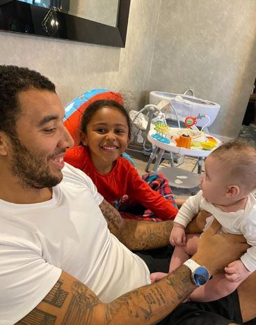 Alisha Hosannah's boyfriend, Troy Deeney with their children.
