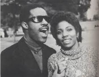 Takiyah Muhammad's mother, Syreeta Wright, with her former husband, Stevie Wonder.