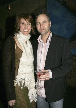 Andrew Thompson with his wife, Natalie Barr.