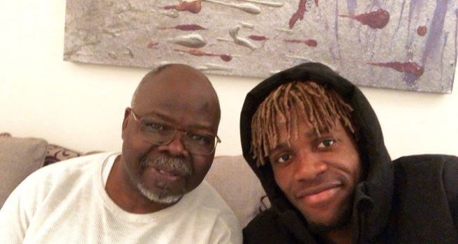 Wilfried Zaha with his father.