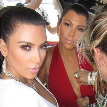 Ben Travertine's wife, Joyce Bonelli with Kim and Kourtney Kardashian.