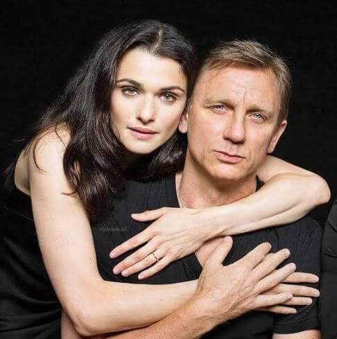 Rachel Weisz with her husband, Daniel Craig.