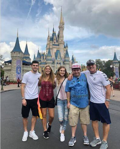 Devyn Pulisic with her family.