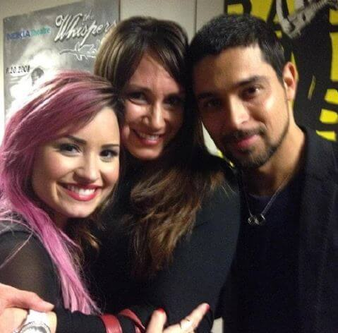 Amber Lovato with Demi and her ex-boyfriend.
