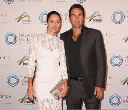 Lara Feltham With Husband Pat Rafter