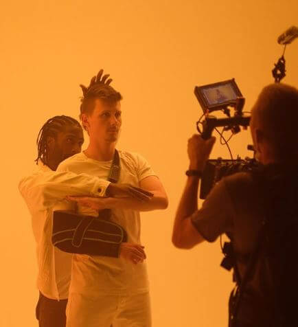 Moritz Jahn shooting for his music video.