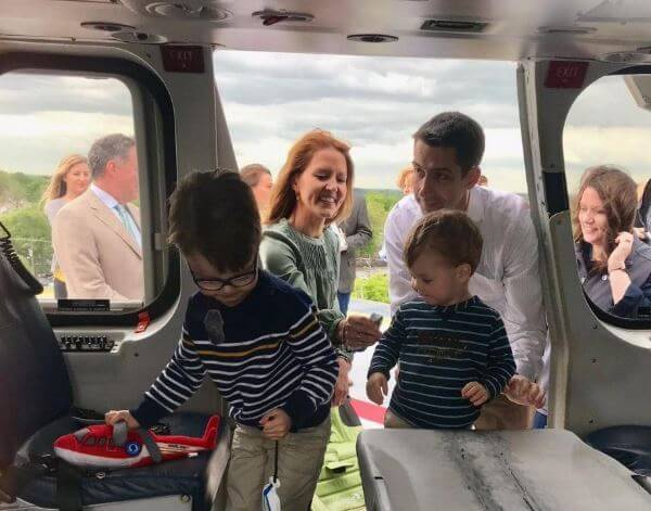 Anna Peckham with her husband, Tom Cotton and two children.