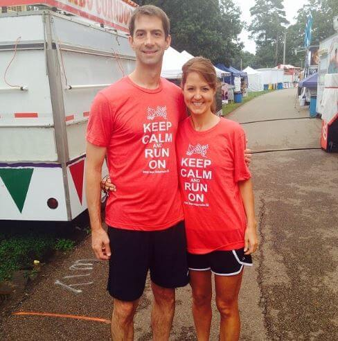 Anna Peckham with her husband, Tom Cotton at Hope Watermelon Festival.