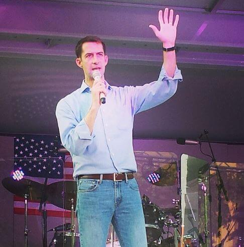 Anna Peckham's husband, Tom Cotton.