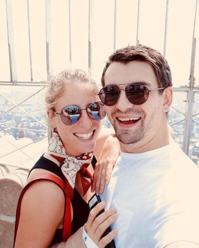 Johanna Konta with her boyfriend, Jackson Wade in the Empire State Building.