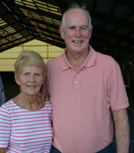 Lesley Turner Bowrey with her husband, Bill Bowrey.