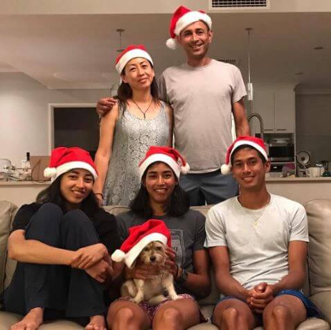 Astra Sharma with her family at Christmas.