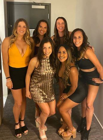 Ellen Perez with her girl's squad.