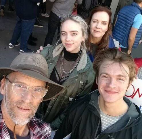Patrick O'Connell with his wife, Maggie May Baird and children, Finneas O'Connell and Billie Eilish.
