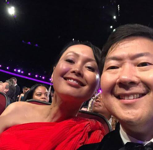 Tran Jeong with her husband, Ken Jeong.