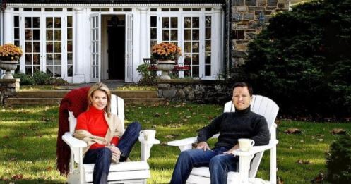 Scott Norby and his wife Heather Nauert in their New York home