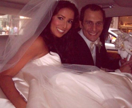 Julie Banderas with her husband Andrew Sansone on their wedding day
