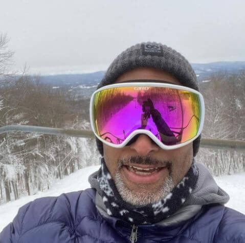 Paul Goodloe on his ski trip to New Hampshire.