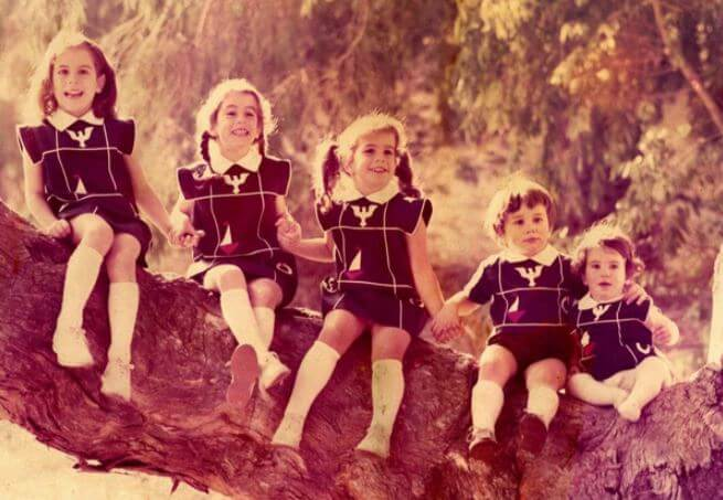 Nancy Corinne Pelosi with her siblings.