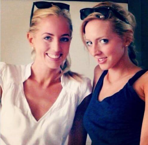 Victoria Pattinson with her younger sister Lizzy.