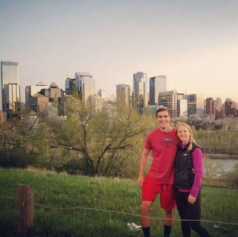 Chris Bruin and his wife at Calgary, Canada.