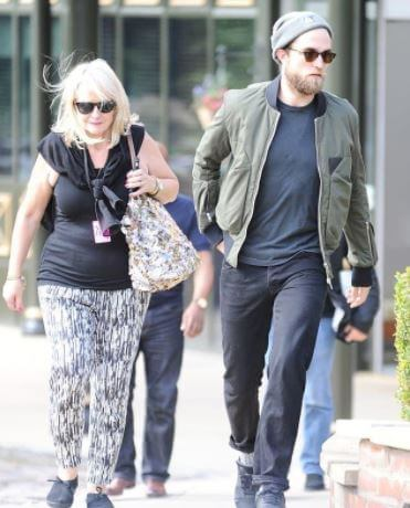 Clare Pattinson with her son, Robert Pattinson.